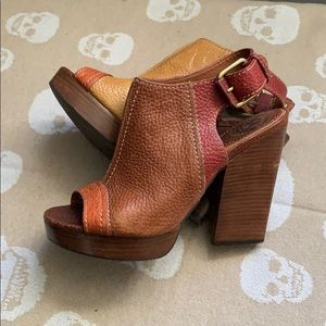 LUCKY BRAND Leather Heels Size 7 1/2